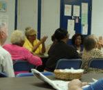 Senior Adults at Graham Rec enjoying C/A puppet show