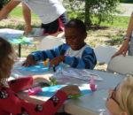 Fun with crafts at Southport Sports camp!